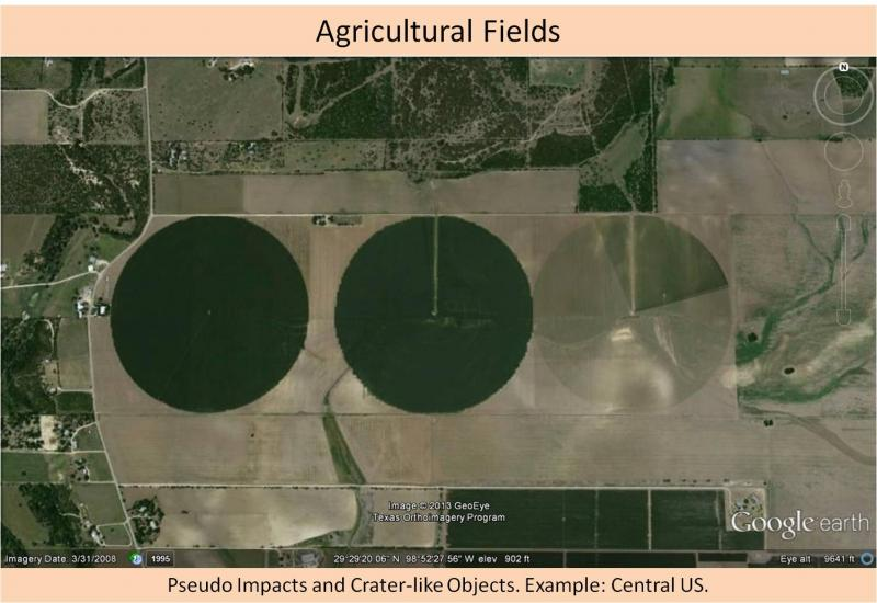 Not an impact crater - agriculture