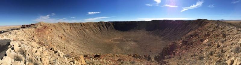 Barringer Crater Panorama, Meteor Crater, Arizona