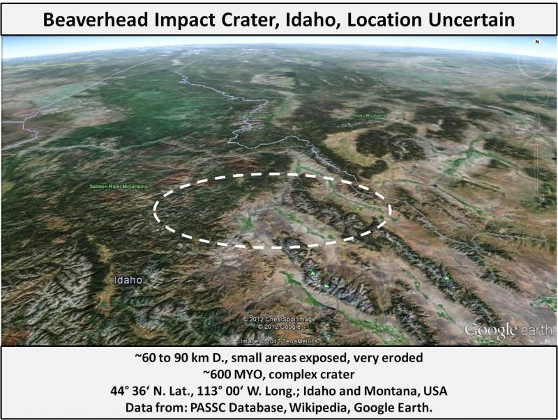 Elm Creek (NE) United States  City new picture : United States Meteorite Impact Craters Beaverhead crater, Montana ...