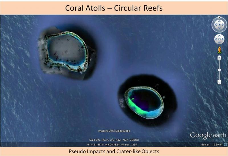 Not an impact crater - coral atoll