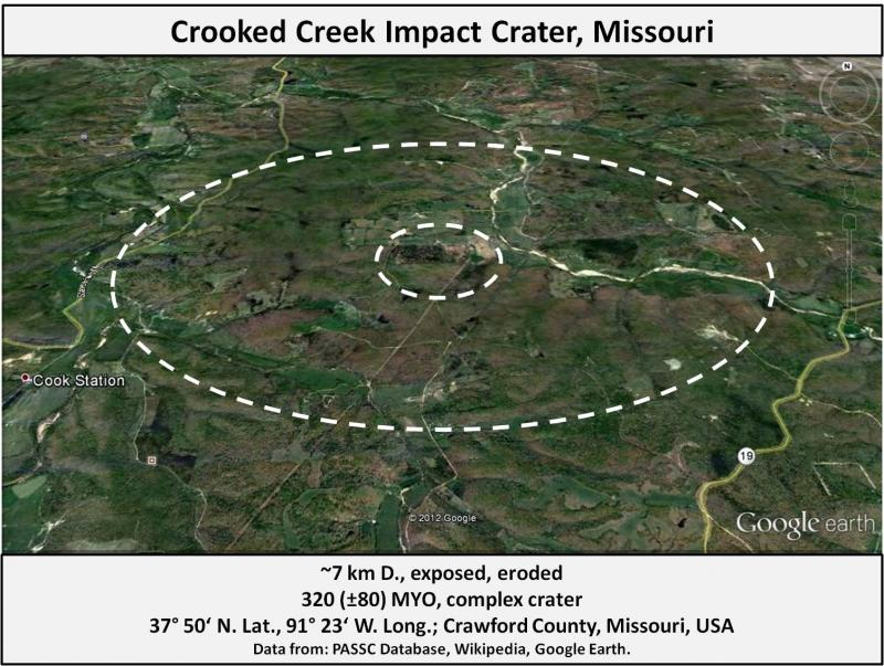 Crooked Creek Impact Crater, Missouri