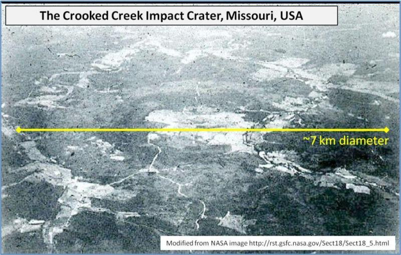 Crooked Creek impact crater