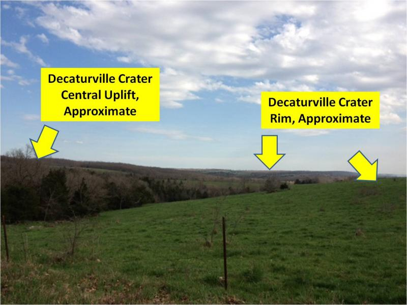 Decatureville Crater rim and central uplift