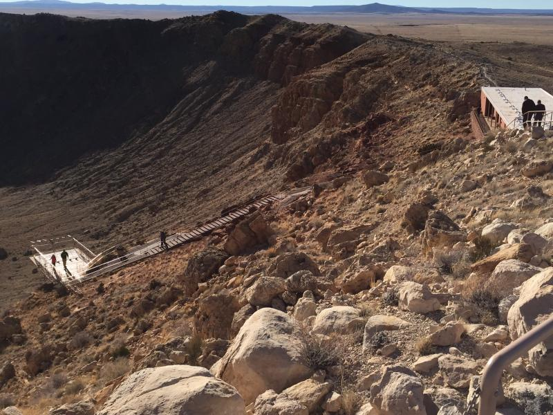 Meteor Crater, Arizona, viewing platform