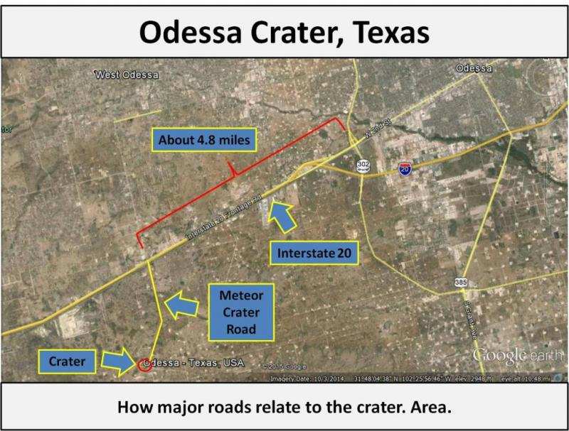 Odessa Crater Directions