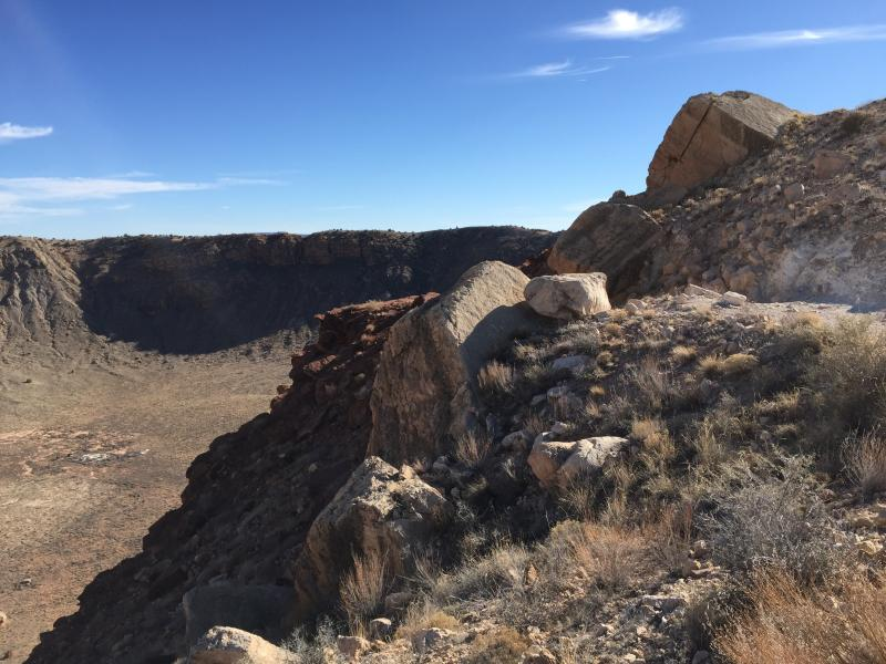 Overturned crater rim, Barringer Crater