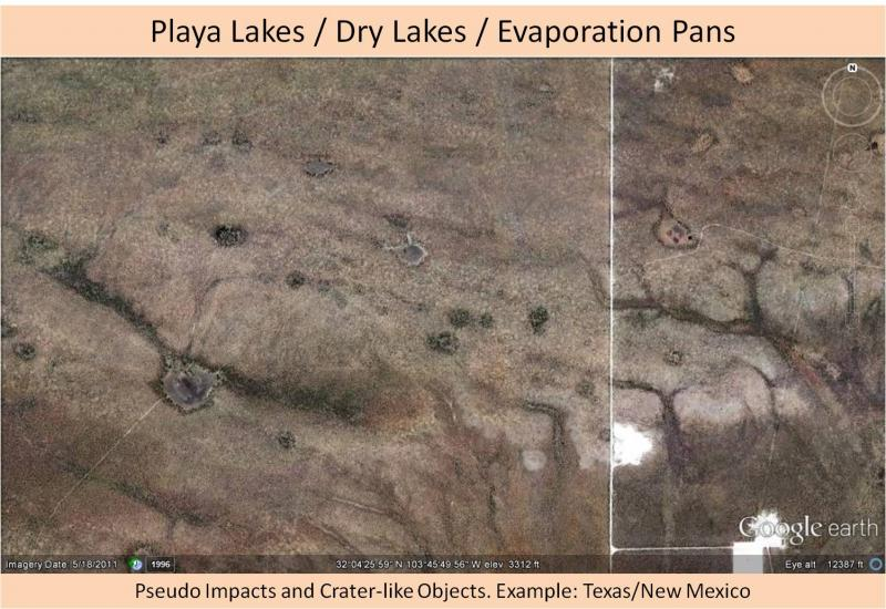 Not an impact crater - playa lakes