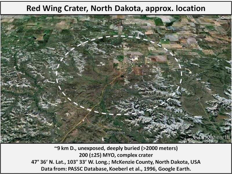 United States Meteorite Impact Craters - Red Wing crater, North Dakota