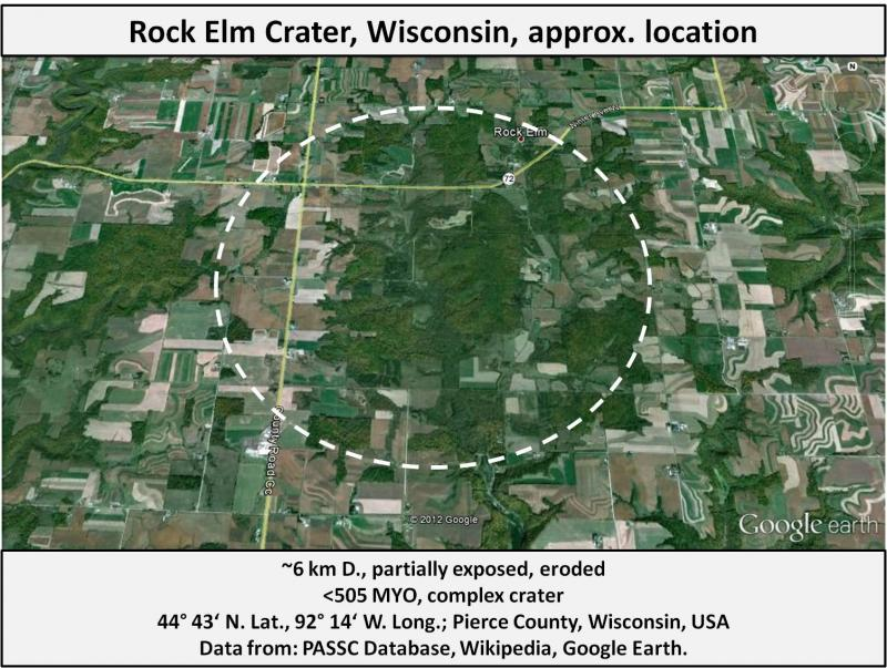 Rock Elm Impact Crater, Wisconsin