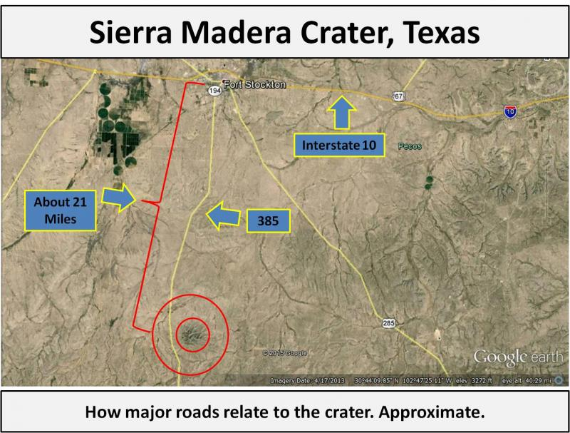 Sierra Madera crater map