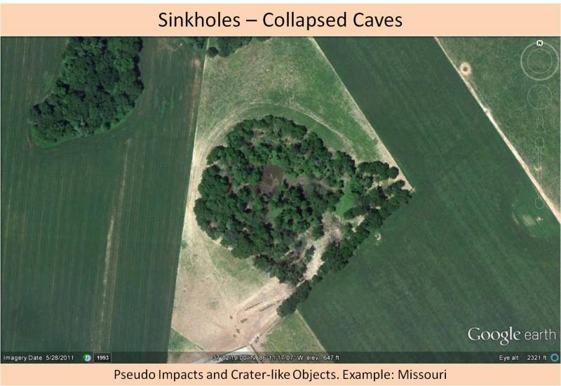 Not an impact crater - sinkhole