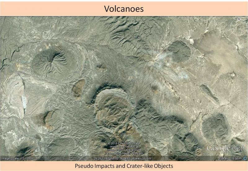 Not an impact crater - volcano